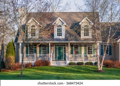 Suburban house in the early spring