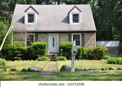 Suburban Middle Class Cottage Stone Home