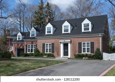 suburban middle class house