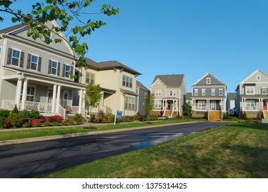 Suburban neighborhood street