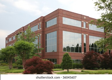 Suburban office or medical building in a generic setting