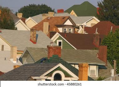 A suburban Pittsburgh neighborhood.