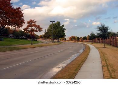 a suburban road