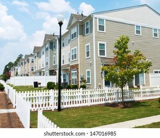 Suburban Three story Town Homes
