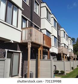 Suburban townhouses outside Toronto, Canada