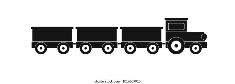 suburban train icon. Simple illustration of suburban train  icon for web.