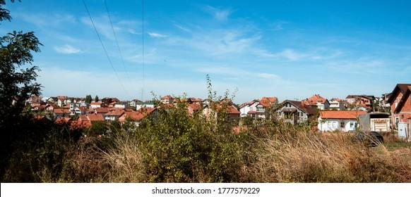 Suburbs of Prishtina on a sunny day