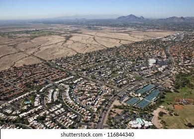 Suburbs of Scottsdale, Arizona meet the Salt River Pima-Maricopa Indian Community