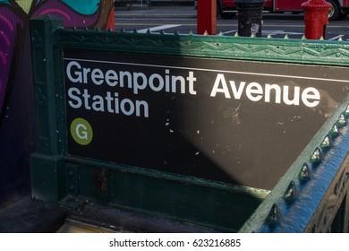 Subway entrance Greenpoint ,
