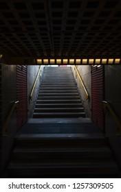 Subway entrance in Milan.