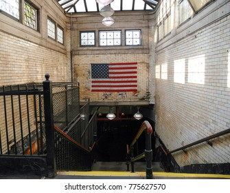Subway Entrance in NYC