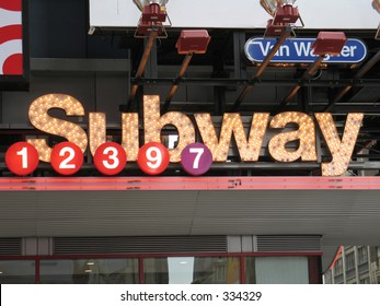 Subway entrance, Times Square, New York City
