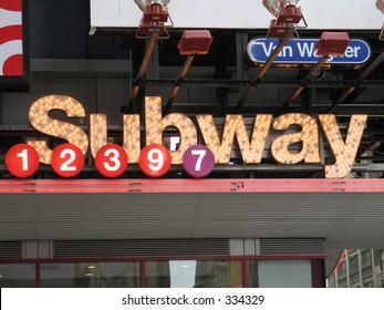 Subway entrance, Times Square, New York City