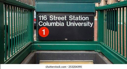 Subway sigh Columbia University in New York