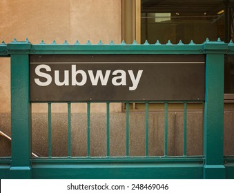 subway sign and entrance
