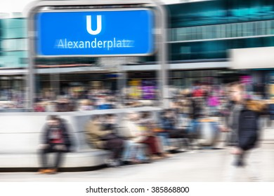 Subway station Alexanderplatz