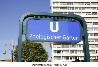 Subway station Berlin Zoologischer Garten - BERLIN / GERMANY - AUGUST 31, 2016