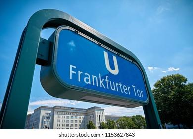 Subway station Frankfurter Tor in the city center of Berlin