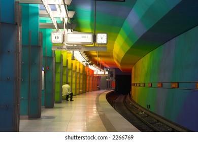 Subway station in Munich, Germany