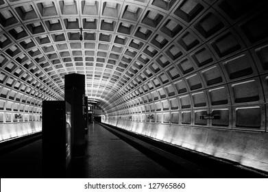 Subway station, Washington DC, USA