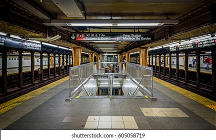 SUBWAY SYSTEM, SEPTEMBER 2017; New York City Subway, Penn Station
