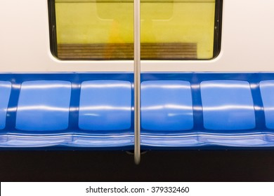 subway train interior with seats