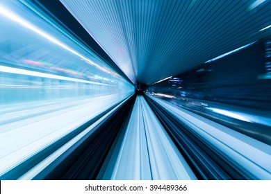 Subway tunnel with Motion blur