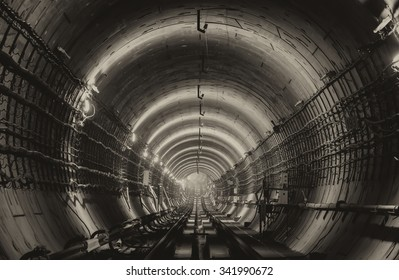 Subway tunnel vintage effect