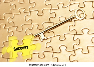 Success is achieved utilizing a strategic puzzling pattern.