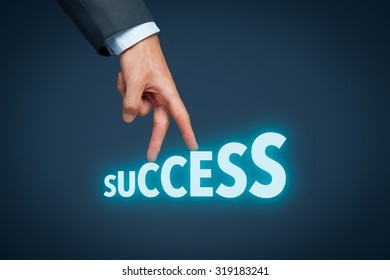 Success in business concept. Career, personal development, personal and career growth, progress and potential concepts.