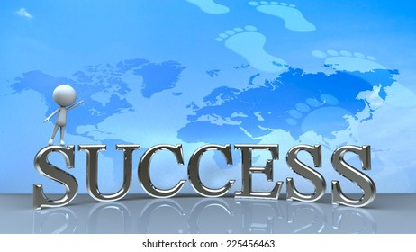 Success in business concept happy for adv or others purpose use