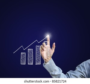 success business concept from nice business hang on dark background.