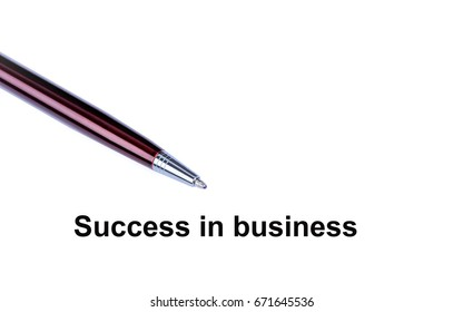 Success in business on a white background close-up
