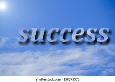 success cloud  word on sky