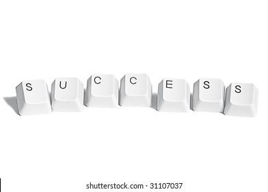 success computer keys