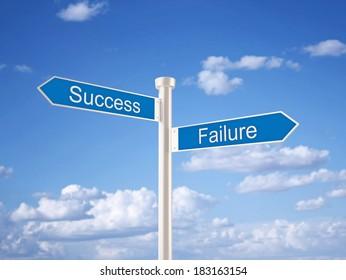 Success - Failure Sign