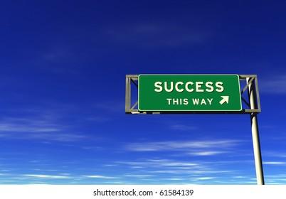 Success - Freeway Exit Sign
