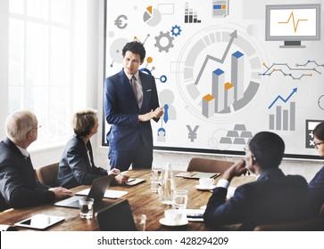 Success Goals Analysis Corporate Business Concept