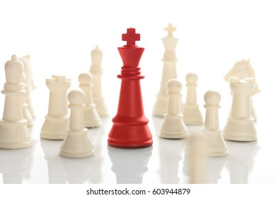Success, Leadership, Chess business concept