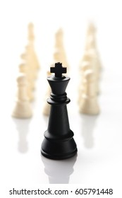 Success, Leadership,Think different, Chess business concept