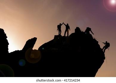 success of the summit cliffs climbing team