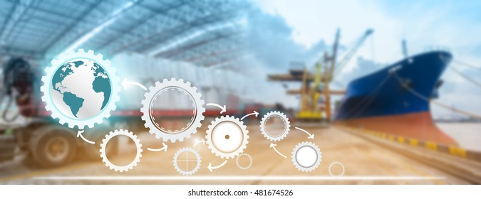 Success supply chain management logistics with import export background