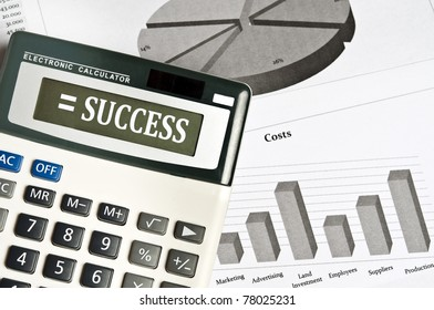 Success word on electronic calculator