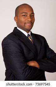 Successful African American businessman with a smile