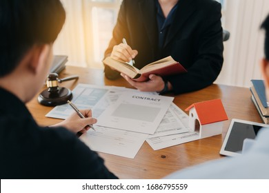 Successful agreement , estate,home buying contract concept, meeting to sign contract