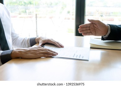 Successful business interview ,Handshake while job interviewing