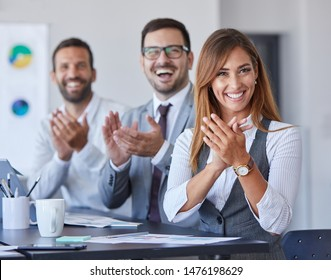 Successful business people having a meeting in an office. Business concept