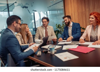 Successful business people.Business people are working in office.