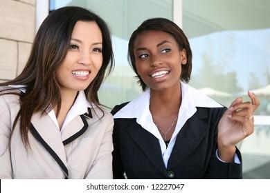A successful business team of diverse women