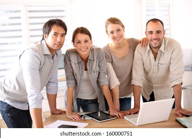 Successful business team in office